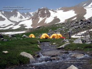 Hesarchal Camping area and AlamKouh Summit, View from South Route, Photo by A. Soltani
