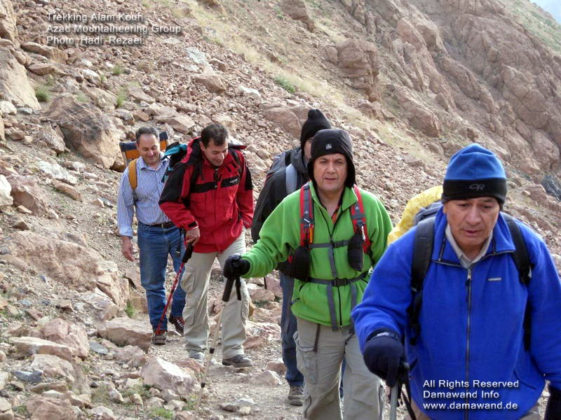 Trekking Alam Kouh in summer season