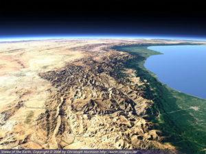Alborz Mountain Chain north of Iran near the Caspian Sea