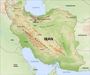 Iran Mountain Ranges, Alborz Mountain Range in north and Zagros Mountain Range in west of Iran.
