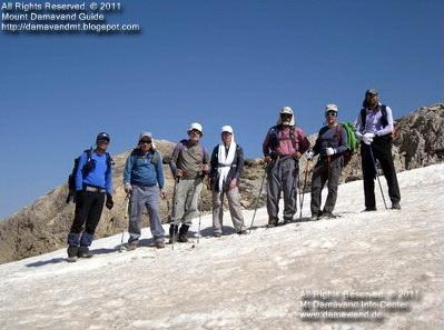 Trekking Tour Dena mountain, hike Dena peak, climb Dena summit.