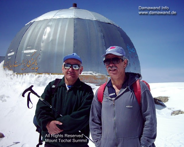Mt. Touchal is a favorite peak for hiking in Alburz Mountain Range Iran
