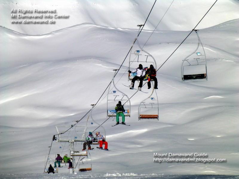 Tochal Ski Lift, Mt Tochal Ski Resort Tehran, Iran, Picture Ardeshir Soltani