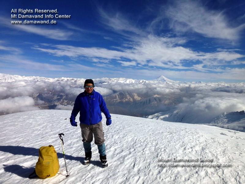 Damavand Mountain (in background) View from Mt Tochal summit, Tehran