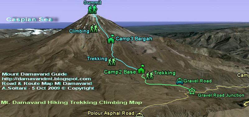 Hike Mount Damavand Iran